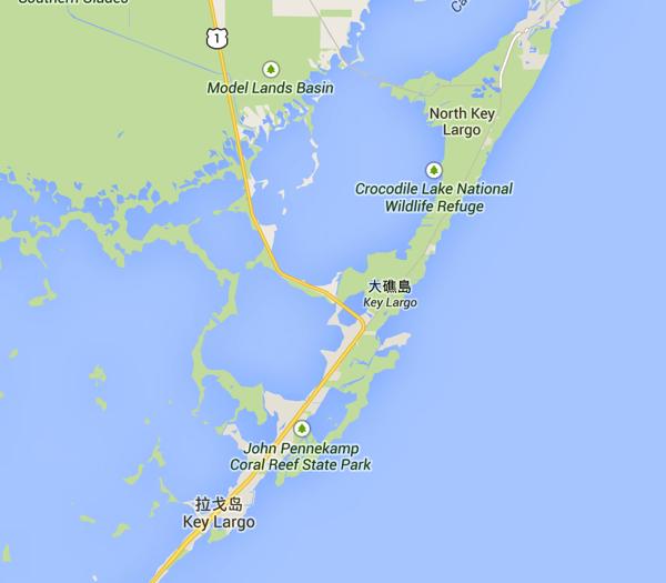 Map of Key Largo