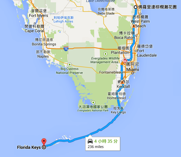 Route to Key West